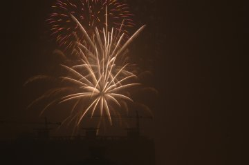 長安公園の花火